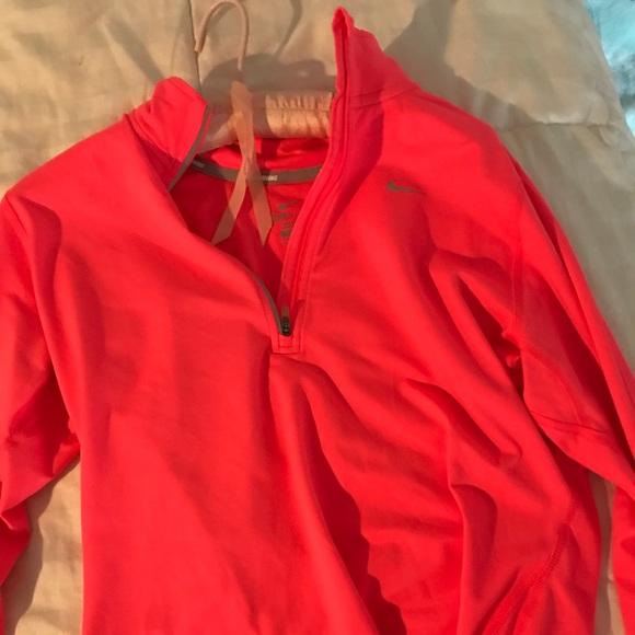 Nike Tops - Neon Pink long sleeve Nike dri-fit top